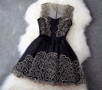 dress black and gold perfect prom dress prom heaven homecoming dress hippie hipster holiday dress