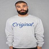 grey sweater,crewneck,sweater,kr3w original crewneck