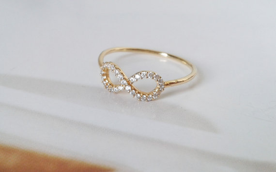 Infinity ring Gold infinity ring Gold filled by TresJoliJewelry