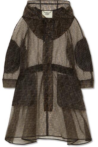 parka oversized brown coat