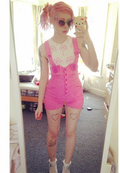 romper,overalls,pink,flowers,high waisted