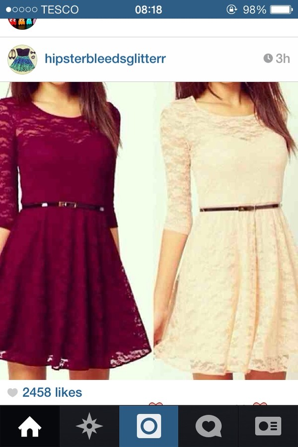 dress burgundy white