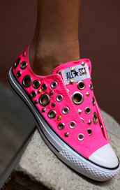 converse,pink shoes,studded,shoes