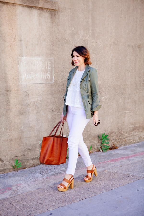 kendi everyday jacket t-shirt jeans shoes bag