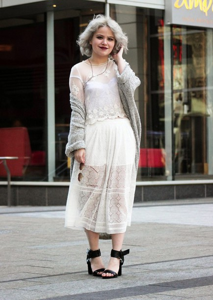 broke hell blogger sandals lace top lace skirt knitted cardigan top shoes cardigan