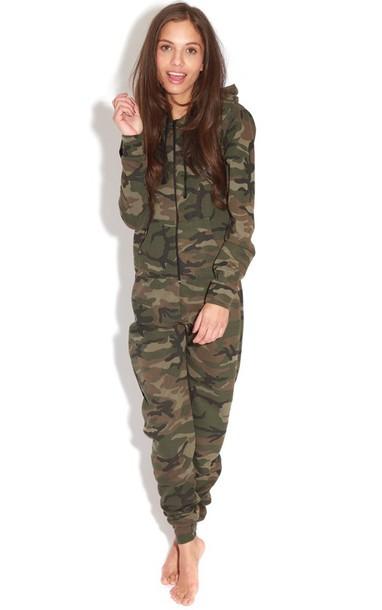 pajamas onesie camouflage