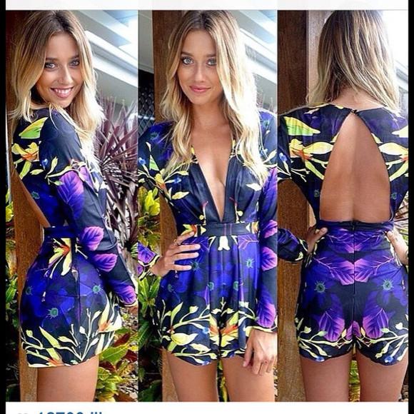 deep v neck deep v neck dress jumpsuit floral jumpsuit floral romper