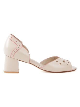 heel chunky heel women pumps nude shoes