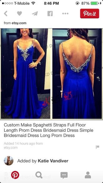 dress prom dress style evening dress royal blue royal blue dress