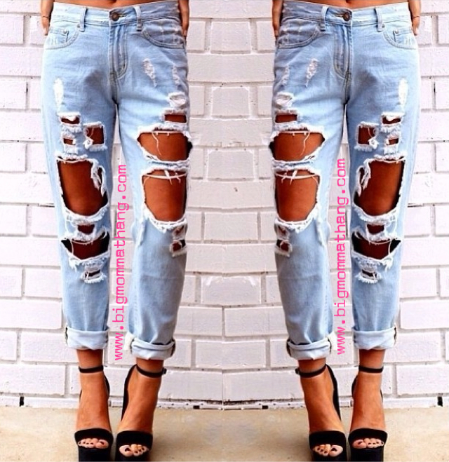 Fire in the hole jeans