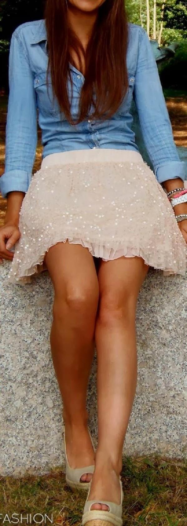 shirt button-up cute skirt