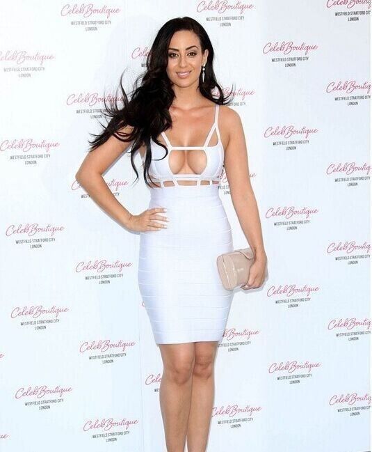 Women Celeb Sexy Cut Out Bandage Bodycon Evening Party Clubwear White Dress | eBay