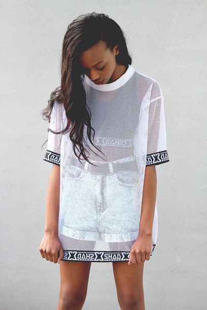 2c085396d6299 t-shirt High waisted shorts oversized t-shirt dress see through top crop  tops