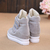 Gray Strap Casual Round Toe Sneakers 15FW00033-1