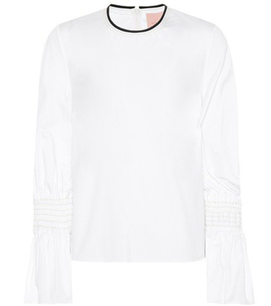 Roksanda top cotton white