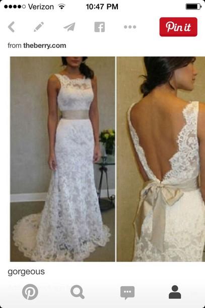 dress white ivory dress wedding dress lace dress