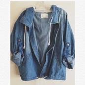 jacket,jeans,blue,drawstring