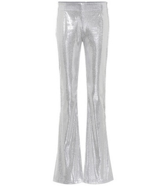 Galvan Galaxy flared sequinned pants in silver