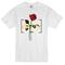 Destroy red rose t-shirt - basic tees shop