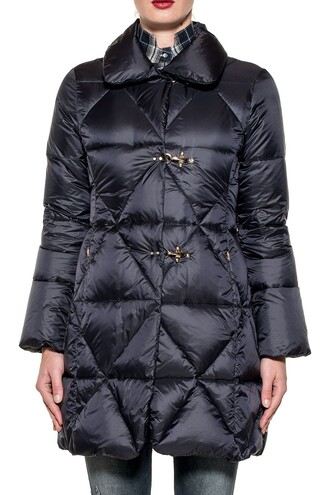 jacket down jacket long quilted blue