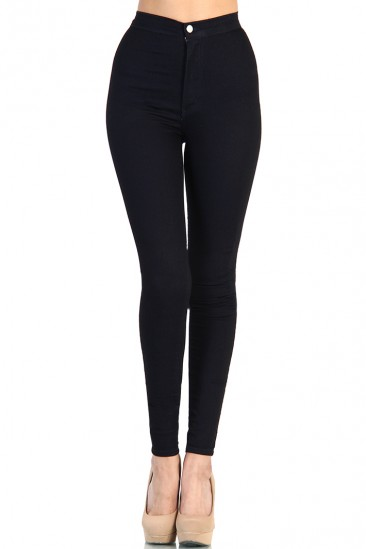 LoveMelrose.com From Harry & Molly | High Waist Dark Navy Denim Jean