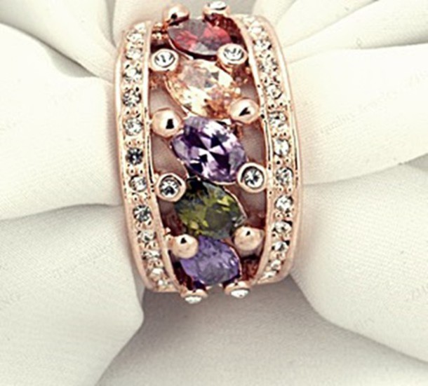 jewels ring women jewelry crystal