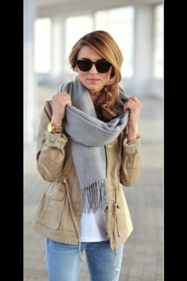 jacket beige parka fall outfits