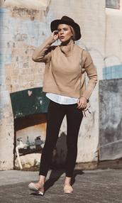 sbstnc,blogger,jeans,sweater,shoes