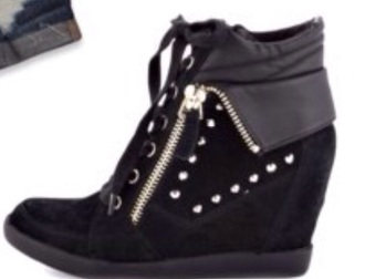 shoes wedges high top sneakers