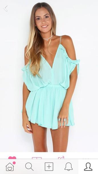 dress summer dress blue dress