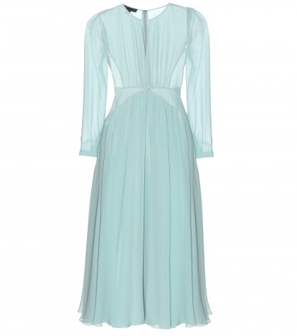 mytheresa.com -  Silk-chiffon dress  - Midi & long - Dresses - Clothing - Luxury Fashion for Women / Designer clothing, shoes, bags