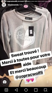 sweater,pull gris,game of thrones