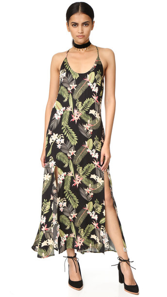 Somedays Lovin In Paradise Strappy Midi Dress - Multi