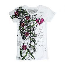 Iron Fist Nature vs Robo Wishbone Girls T Shirt White   eBay