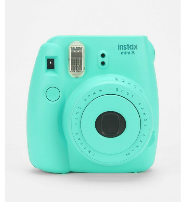 aqua photography technology turquoise nail accessories bag home accessory phone cover fujifilm instagram camera tumblr polaroid camera turqoise belt gift ideas blue cute polaroid camera mint
