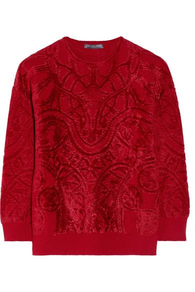 Alexander McQueen|Chenille-jacquard sweater|NET-A-PORTER.COM