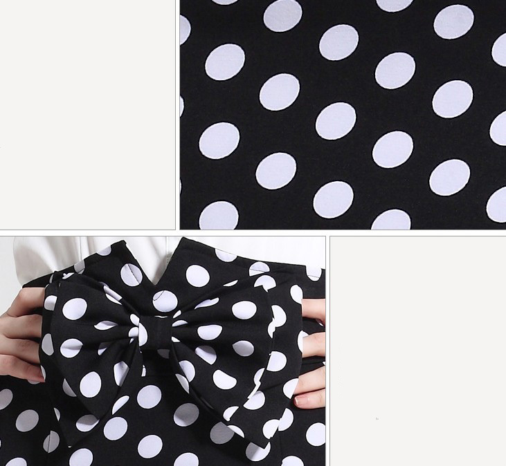 Black High Waist Polka Dot Pencil Skirt With Bow Women Clothing Summer 2014 Sexy Elegant Fashion Wear Mini Bodycon -in Skirts from Apparel & Accessories on Aliexpress.com | Alibaba Group