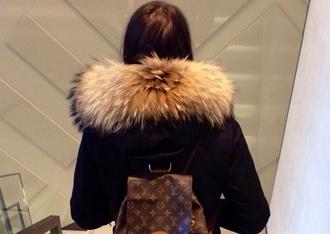 coat black coat fur coat luxury fashion fabulous amazing style fur luxury fashion