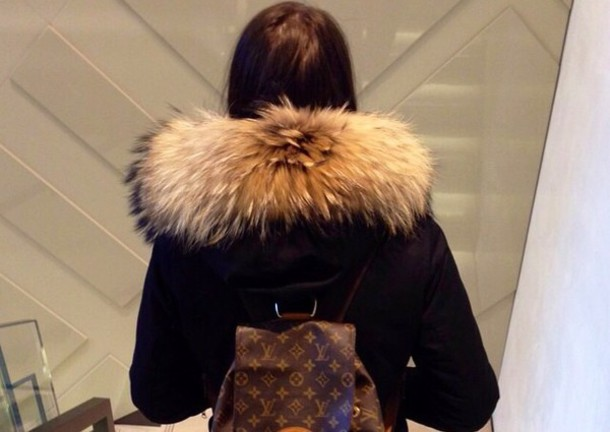 coat black coat fur coat luxury fashion fabulous amazing style fur luxury fashion