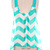 Sunny Sunday Mint Chevron Top