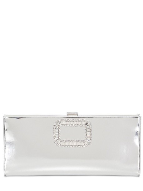 Roger Vivier leather clutch clutch leather silver bag