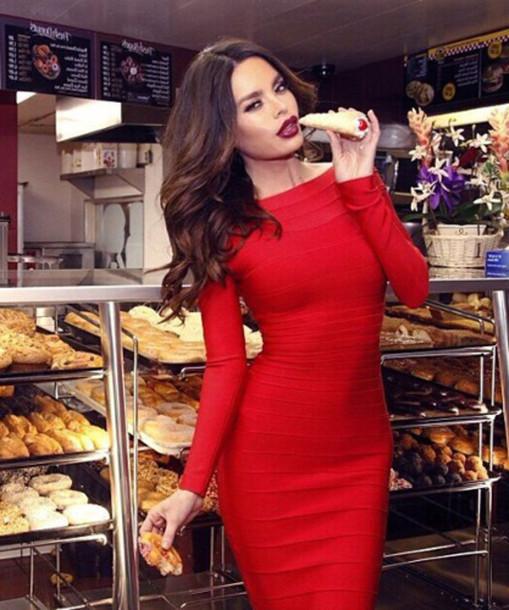08e7c505dda9 dress dream it wear it dress clothes clothes red red dress long sleeves  long sleeve dress