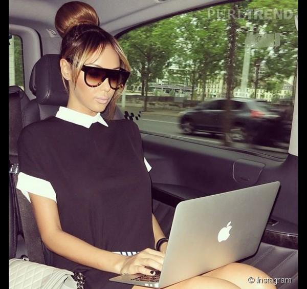 clothes dress black white celebrity style
