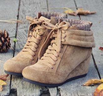 shoes desert boots wedges winter shoe tan shoes