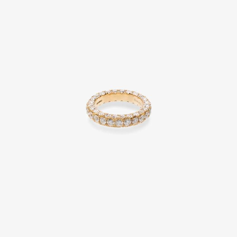 Shay 18K Yellow gold diamond eternity ring