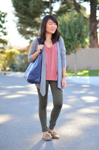 daily disguise blogger cardigan bag smoking slippers