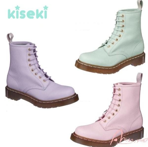 shoes pastel boots light color