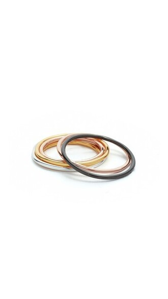 rose gold rose midi ring gold silver jewels
