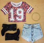 t-shirt,shirt,shorts,crop tops,19,jersey tee shirt,flowers,floral tshirt,blouse,colorful,jersey,skirt