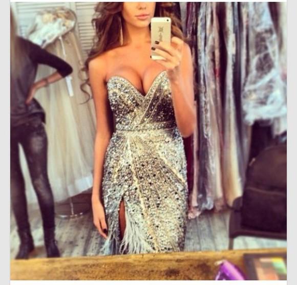 princess glitter prom dress eveningdress nice @promdress